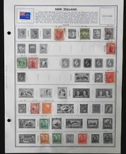 Lot 100+ New Zealand Stamps on Album Pages: 1880s to 1970s