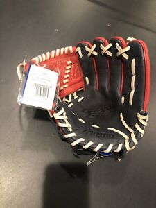 "Mizuno Global Elite GGE43 11.25"" Baseball Glove - Navy-Red"