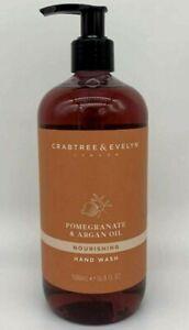New Crabtree Evelyn Pomegranate & Argan Oil Hand Wash Pump 16.9 fl oz