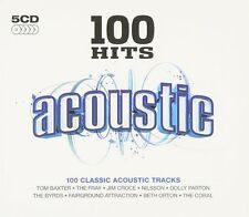 100 Hits Acoustic 5-CD NEW SEALED Byrds/Jim Croce/Johnny Cash/Spirit/Toto/ELO+