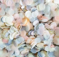 Bulk Biodegradable Wedding Confetti Peach Grey Ivory Circles Wedding Mix