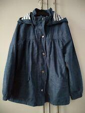 H&M Girls Denim Parka Coat Jacket Age 6-7 Years