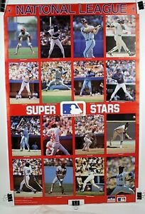 "National League Super Stars Original MLB Starline Poster 1988 22 1/4"" x 34"""