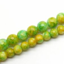 25 Honey Topaz Faceted Loose Glass Beads 10MM