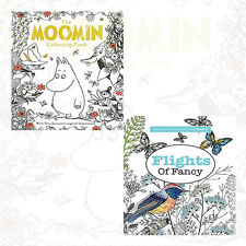 The Moomin Colouring Book and Flights Of Fancy Collection 2 Books Set NEW