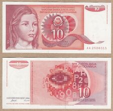Yugoslavia 10 Dinara 1990 P-103 NEUF NEU UNC Uncirculated Banknote