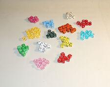8 mm Spielwürfel-Perlen ( mit Loch ) 250 Stck..Made in Germany, Dice-beads