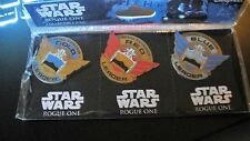 Star Wars: Rogue One Rebel Squadron Leaders 3 Pin Set New and Sealed