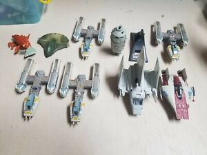 Vintage Star Wars Galoob Action Fleet Lot LARGE Ships * IMPERIAL SHUTTLE, Y-WING