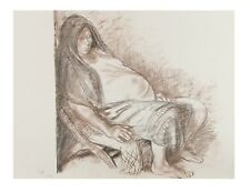 """Mujer Gravida"" by Francisco Zuniga Lithograph on Paper LE of 2000 '74 Portfolio"