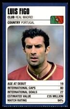 Revista de coincidencia-Trump Tarjetas (2002) de la Copa del Mundo Luis Figo, (Portugal)
