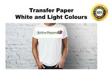 50 Sheets A4 T-Shirt Transfer Paper Iron-On Inkjet Print Heat For Light Fabric