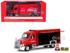 "BEVERAGE TRUCK ""COCA-COLA"" W/HANDCART & 4 CASES 1/50 MOTORCITY CLASSICS 450060"