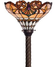 Antique Tiffany-style Classic Jewel Torchiere Lamp Tiffany Lamps Torch Floor NEW