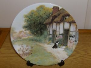 Royal Grafton Plate - Quiet Corners Collection - Waiting for Master