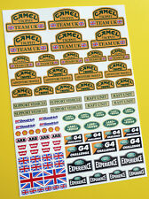 Rock Crawler 'CAMEL TROPHY TEAM UK' 24th scale stickers decals D90 Defender