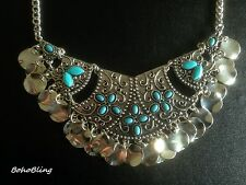 Necklace Moroccan Silver Ethnic Afghan Boho Gypsy Tribal Bohemian N1033