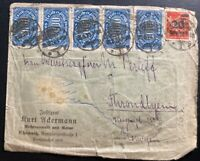 1923 Chemnitz Germany Inflation Rare Commercial Cover