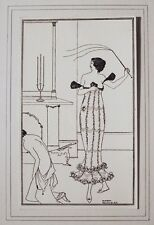 Art Nouveau Aubrey Beardsley, Original Vintage, Earl Lavender, Erotic S&M