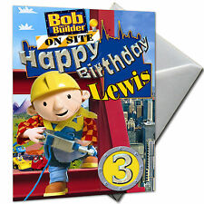 Bob The Builder - Personalised Birthday Card Large A5 Envelope