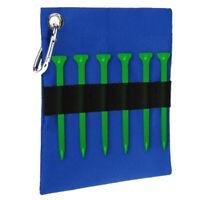 Portable Golf Tee Ball Storage Bag Golf Ball Tees Holder Pouch w/ Clip