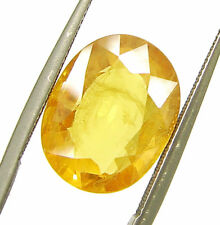 6.00 Ct Certified Natural Yellow Sapphire Pukhraj Loose Oval Gemstone - 98532