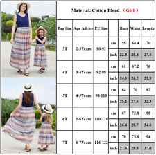 Mommy And Me Mother Daughter Dresses Printed Long Dress Mother Floral Clothes