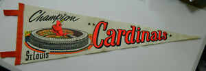 1967-68 St Louis Cardinals Champions Baseball Pennant Busch Stadium World Series