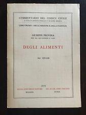 DEGLI ALIMENTI Art. 433-448 - Giuseppe Provera (codice civile) libro diritto