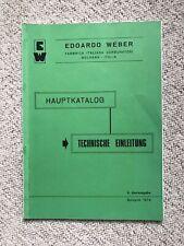 WEBER Vergaser Manual Einführung und Einstellung