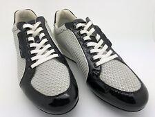$350 Emporio Armani black/beige mens sneakers Size 6