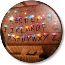 """STRANGER THINGS ALPHABET LIGHT WALL 1"""" 25mm Pin Button Badge Netflix Eleven 11"""
