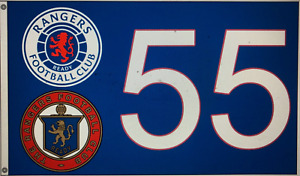 Glasgow Rangers 5ft x 3ft New 55 flag Pre Order due in 7th February