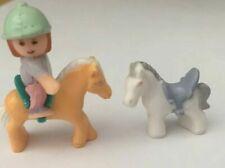 VINTAGE 90'S POLLY POCKET 3 x HAPPY HORSES FIGURES BLUEBIRD 1996 PP8