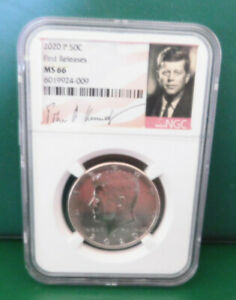 2020 P  KENNEDY NGC MS66 HALF DOLLAR FIRST RELEASES