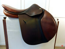 """2007 Butet Luxury French Jumping Saddle Gorgeous Brown 17"""""""