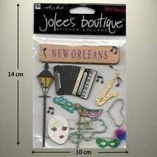 JOLEE'S BOUTIQUE - NEW ORLEANS, Trumpet, Masks, Accordian - DIMENSIONAL STICKER