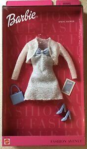 1999 Barbie Fashion Avenue SPRING SHOWER Dress Heels Shoes Purse NRFB RARE