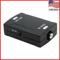 Coax Coaxial RCA to Optical Toslink SPDIF Digital Audio Signal Converter Adapter