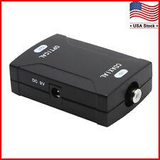 Coax Coaxial Rca to Optical Toslink Spdif Digital Audio Signal Converter Adapter