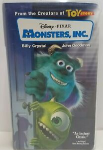 Walt Disney Pixar Monsters, Inc. Blue Tape (VHS, 2002, Clam Shell)