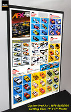"Custom AFX Wall Art - AURORA ""The AFX 1979 Catalog Cars""  11W x 17T Hi QA POSTER"