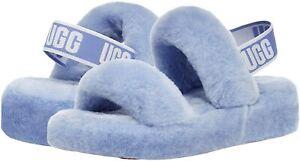 Women's Shoes UGG OH YEAH SLIDE Sheepskin Slipper Sandals 1107953 CORNFLOWER