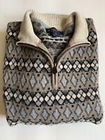 Brooks Brothers 100% lambswool pullover sweater quarter zip Mens XL - EUC