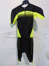 Louis Garneau Course Lgneer Triathlon Suit Men's XL Black/Bright Yellow