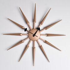 Large 62cm Rose Gold Sunburst Wall Clock Retro Office Kitchen Home Living Room