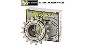 Rare NEW IN BOX ACS Crossfire BMX Freewheel 19T x 3/32'' GUN METAL GRAY