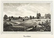 BAD LAUCHSTÄDT - GESAMTANSICHT - Saxonia - Lithografie 1836