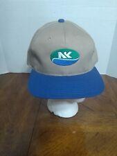 Novartis Seeds NK Logo Baseball Cap Khaki Blue Farmer Hat Adjustable