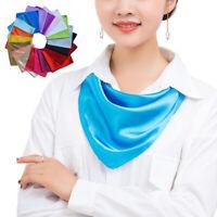 Soft Satin Scarf Women Head Scarf Hair Bandana Neck Wrap 60cm Square